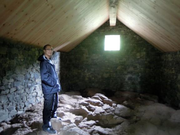 Erik inside Stone House