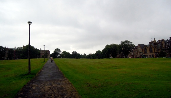 My walk home from the city center, through The Meadows and Bruntsfield Links.