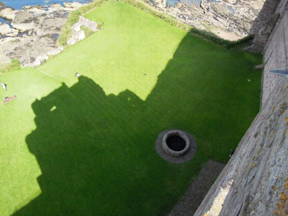 View of the castle well from the top of the fortress