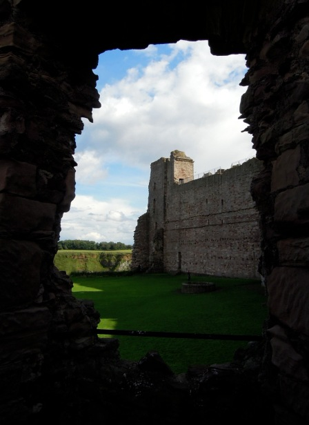 View of the castle through one of the doorways
