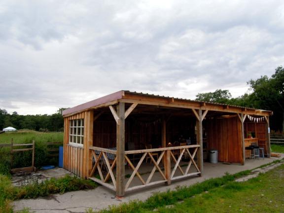 Communal open-air kitchen
