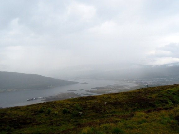 View of the sea lochs (I think)
