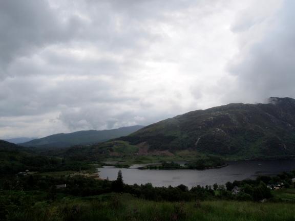 Somewhat dark view of Loch Shiel