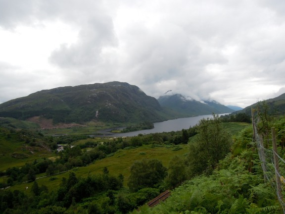 View of Loch Shiel and the railway