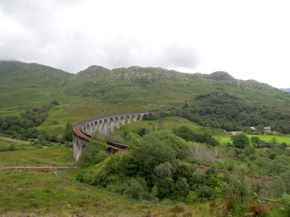 Glenfinnan Viaduct from above