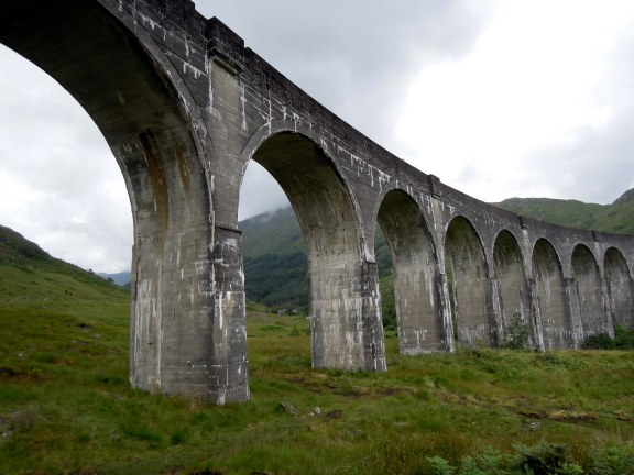 Glenfinnan Viaduct from standing almost underneath it