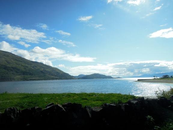 View of Loch Linnhe through the car window