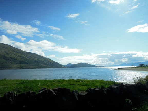 View of Loch Linnhe through the car window
