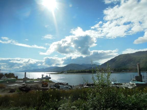Boats in Loch Linnhe
