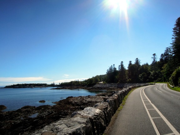 Road along the coastline in Skye