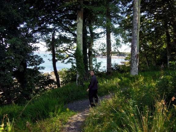 Erik walking down a trail