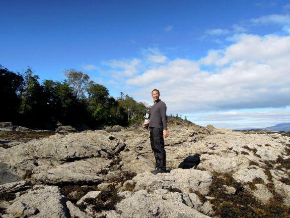 Erik standing on the rocks