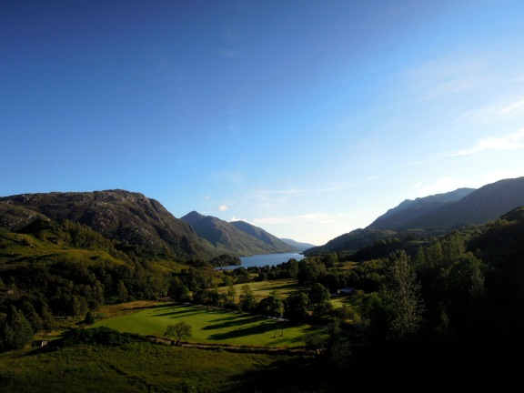 View of Loch Shiel on a fine afternoon