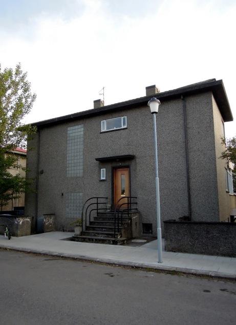 Grey house with Art Deco-ish feel