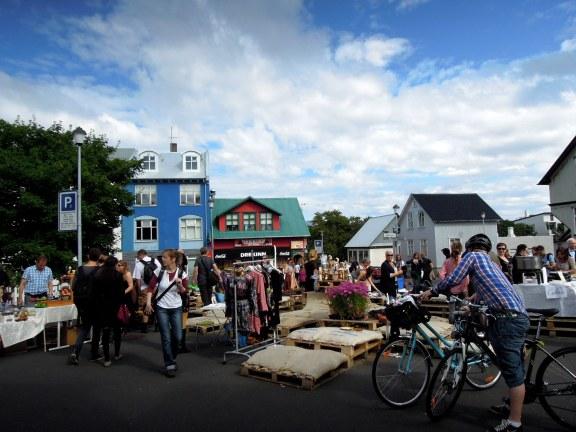Outdoor flea and craft market