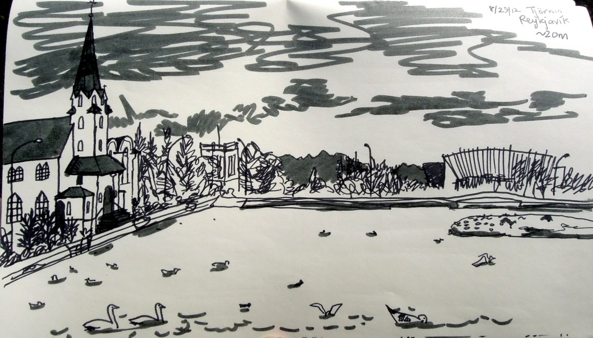 Sketch of the pond