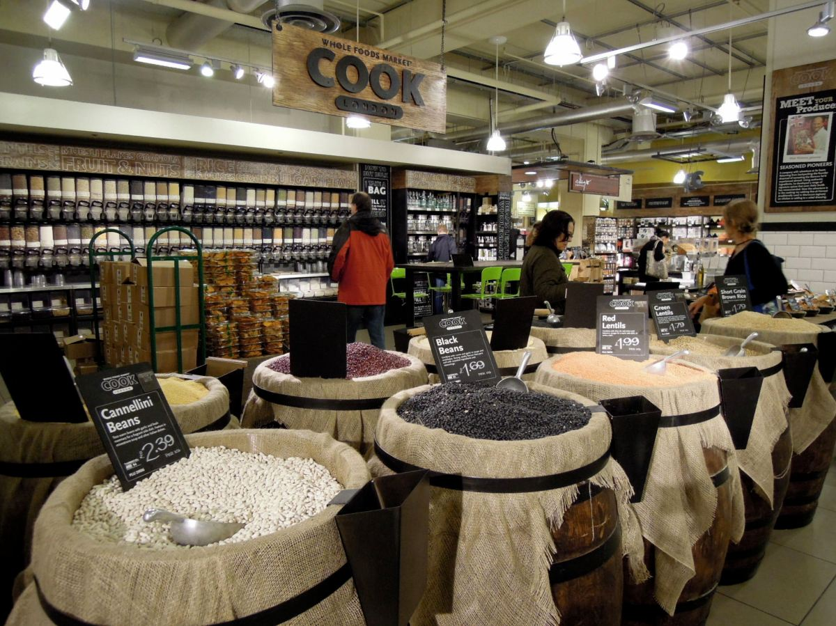 Bulk section of the largest Whole Foods in the world