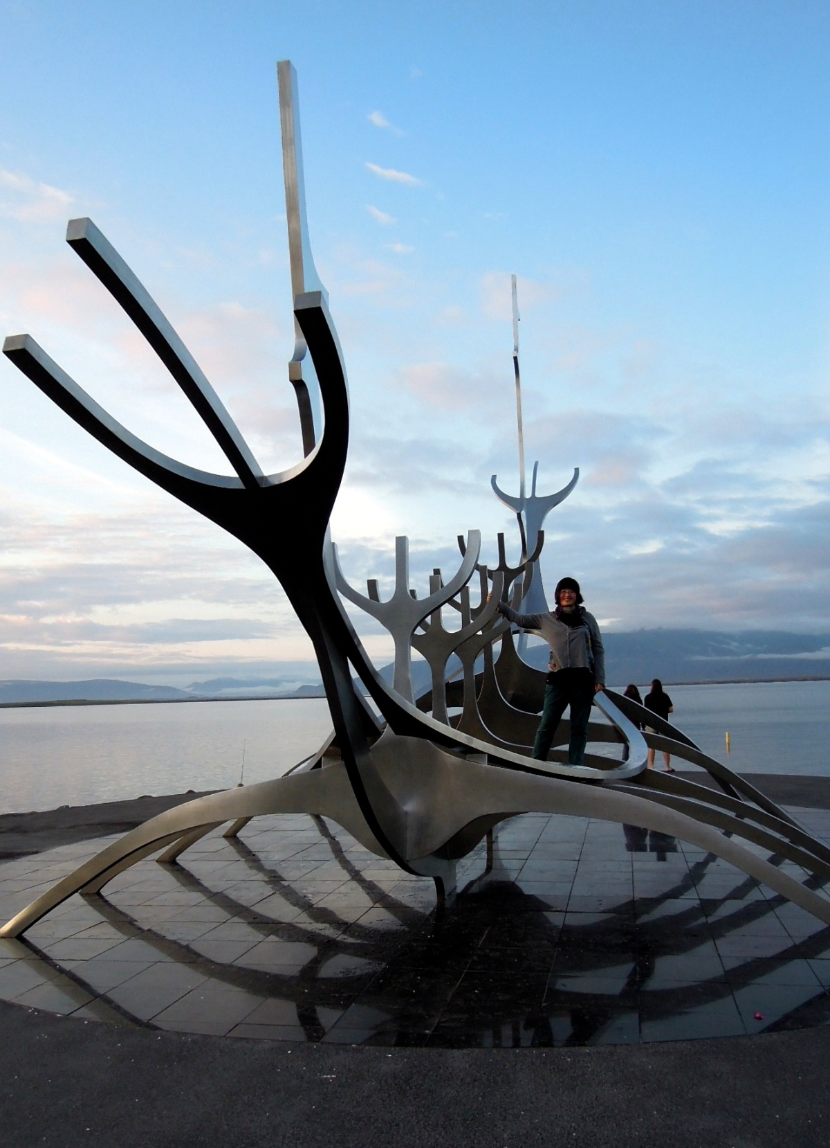 Lisa standing on the Sun Voyager