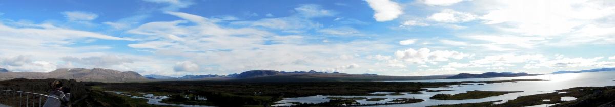 Panoramic photo of streams