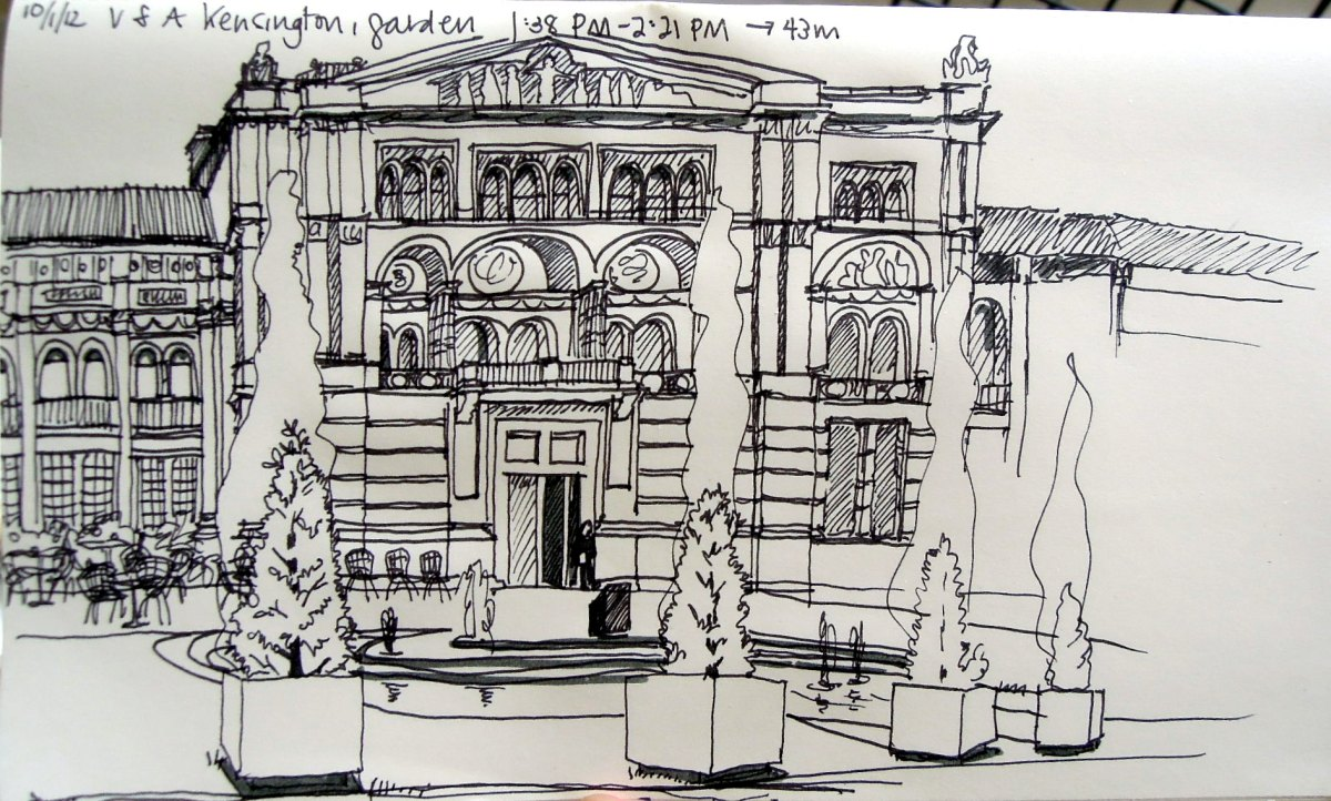 Sketch of the V&A garden