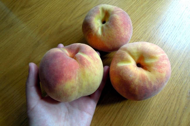 Big yellow peaches