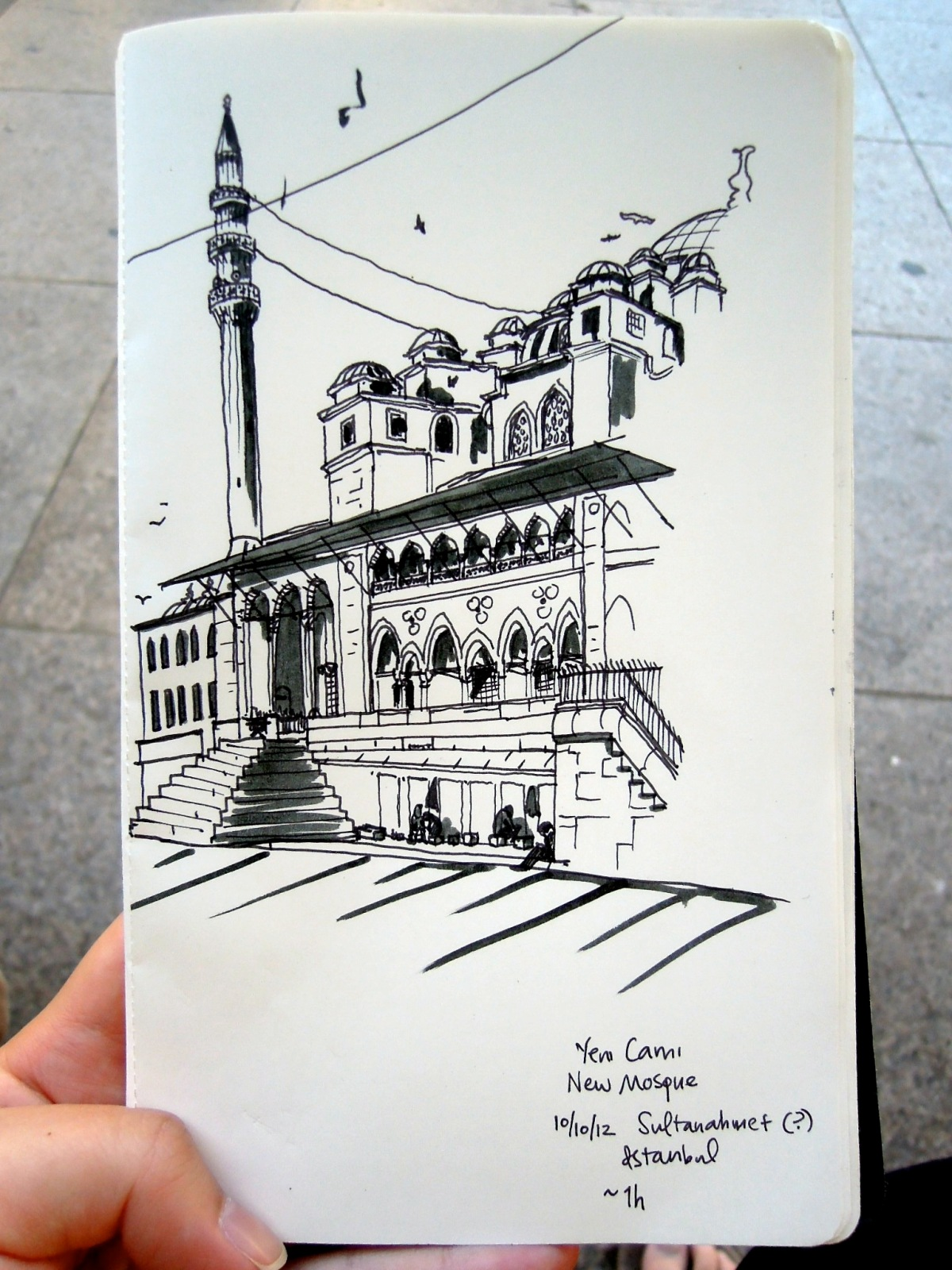 Sketch of Yeni Cami