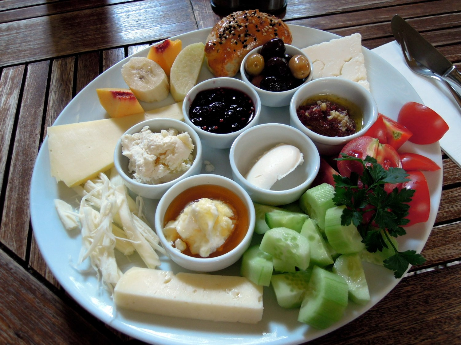 Turkish breakfast plate