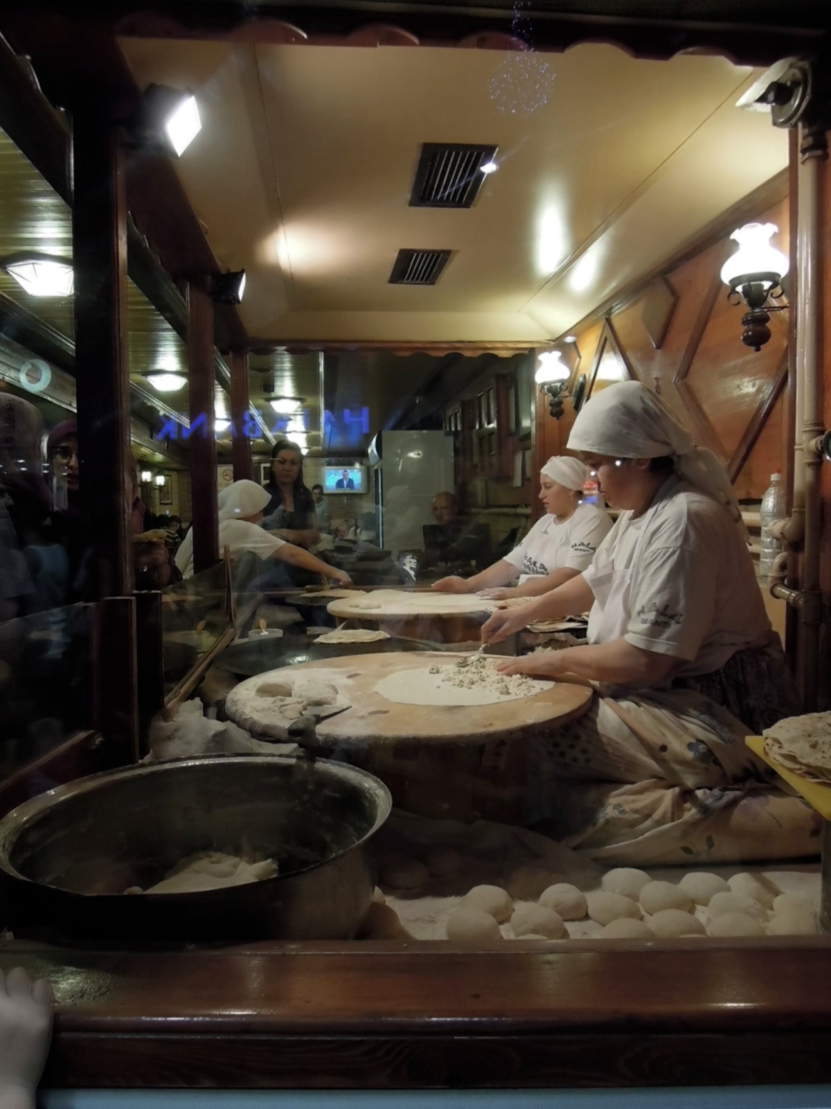 Manti-makers at Hala restaurant