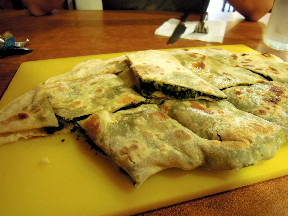 Spinach flatbread (gözleme)
