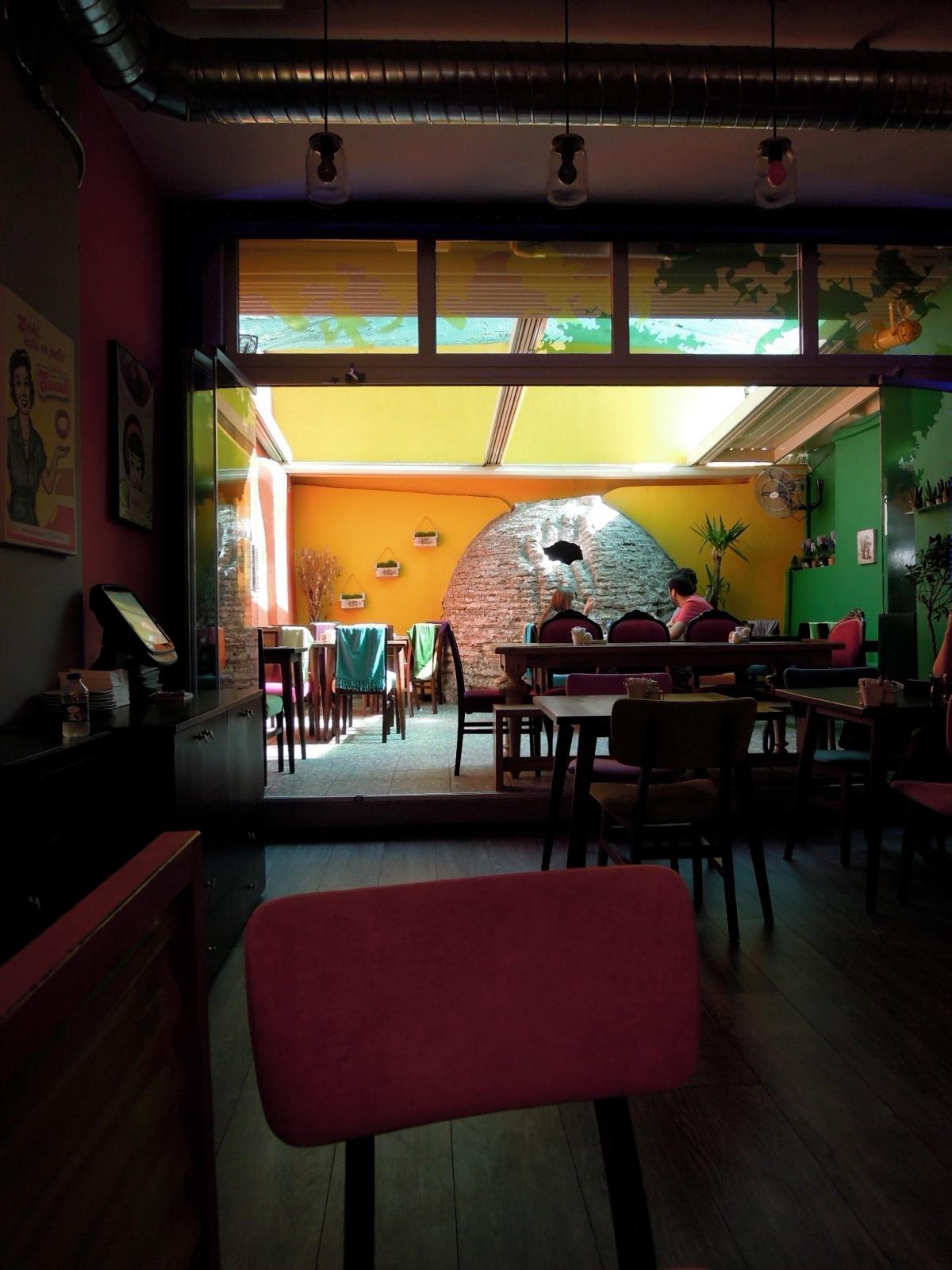 Interior of Yımırta café