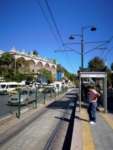 Waiting for the tram at Tophane