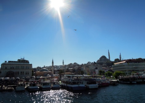 View of the old city from the Golden Horn