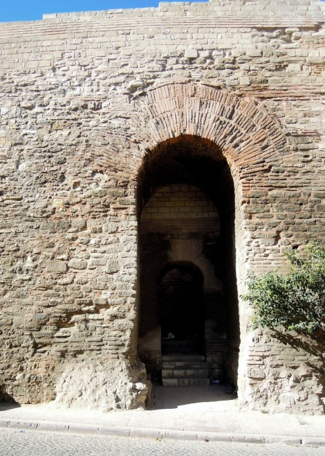 Arched doorway in the old city wall