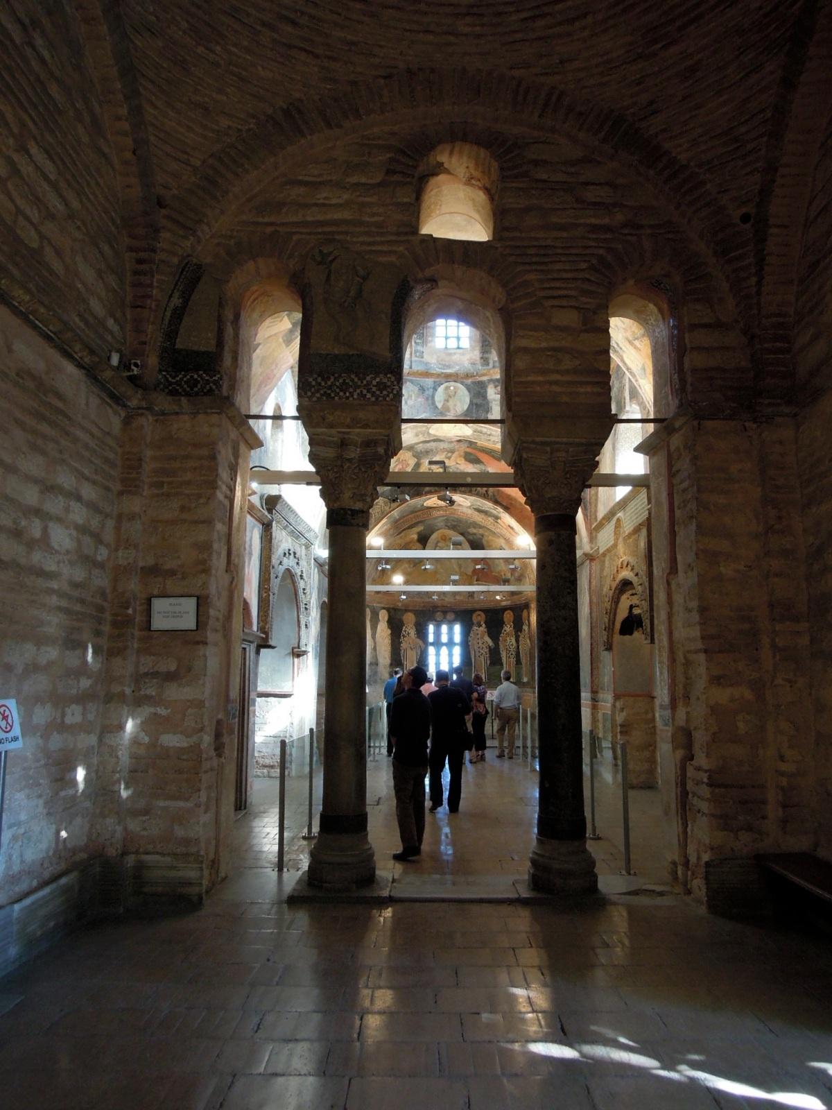 Through the right-hand door, upon entering the museum