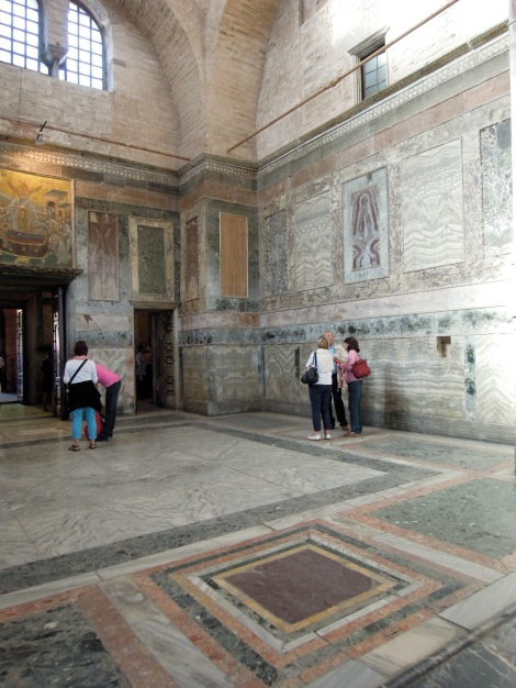 Marble walls and floor