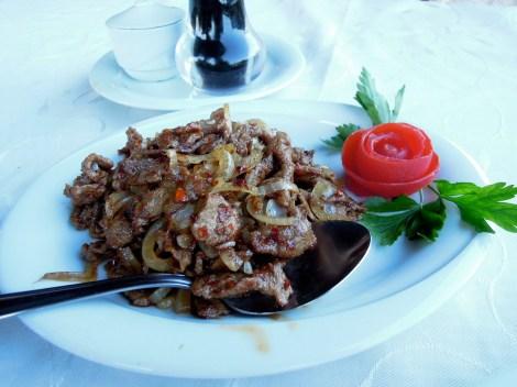 Uighur stir-fried beef and vegetables