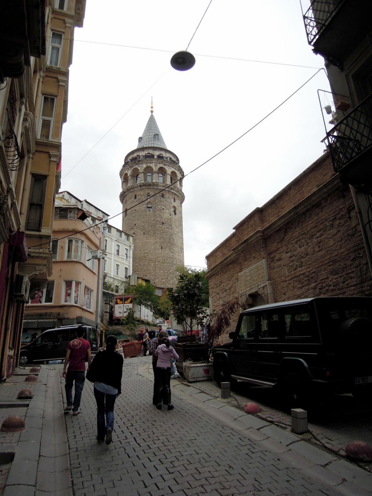 Galata Tower seen from Lüleci Hendek Caddesi