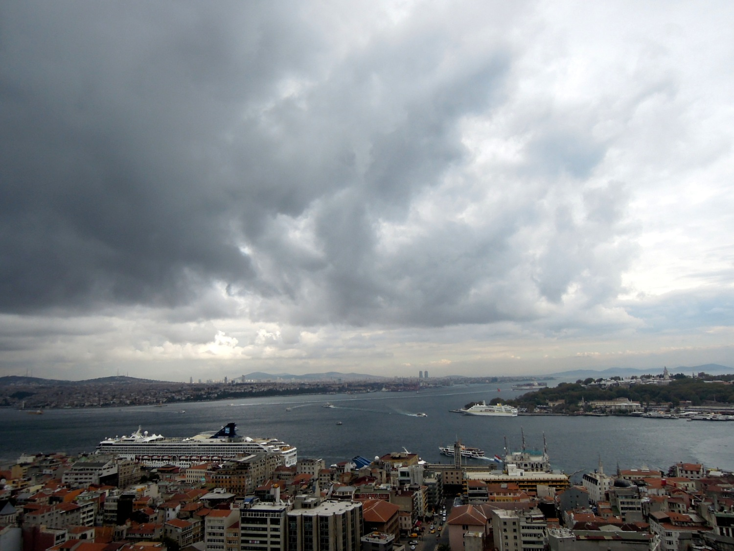View of the Bosphorus and the mouth of the Golden Horn
