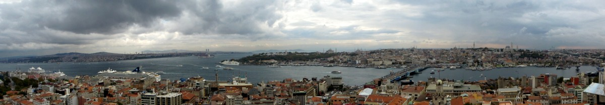 Panoramic view of the Bosphorus and the Golden Horn
