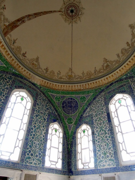 Tiled room with domed ceiling