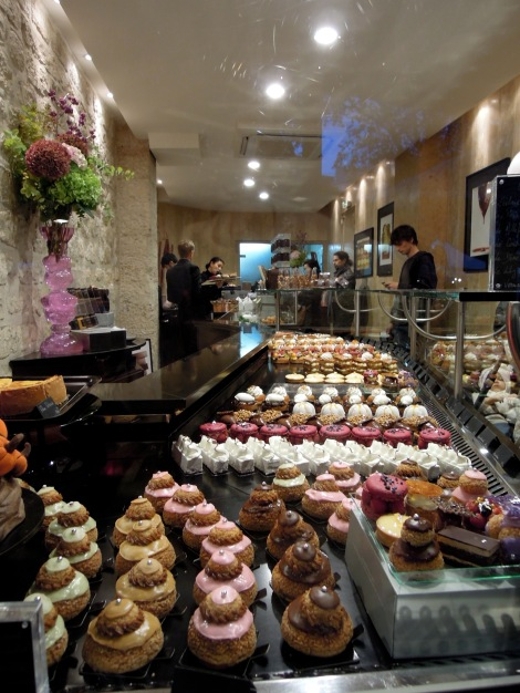 Religieuses and other pastries at Carl Marletti