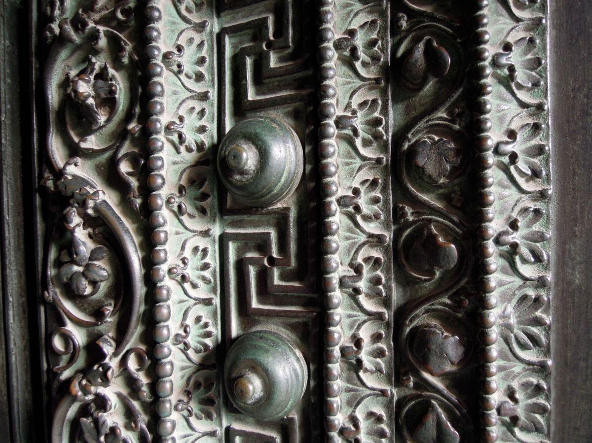 Ornate metal door
