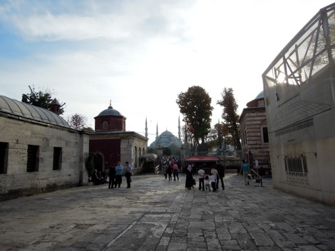 View of the Blue Mosque from the Aya Sofya