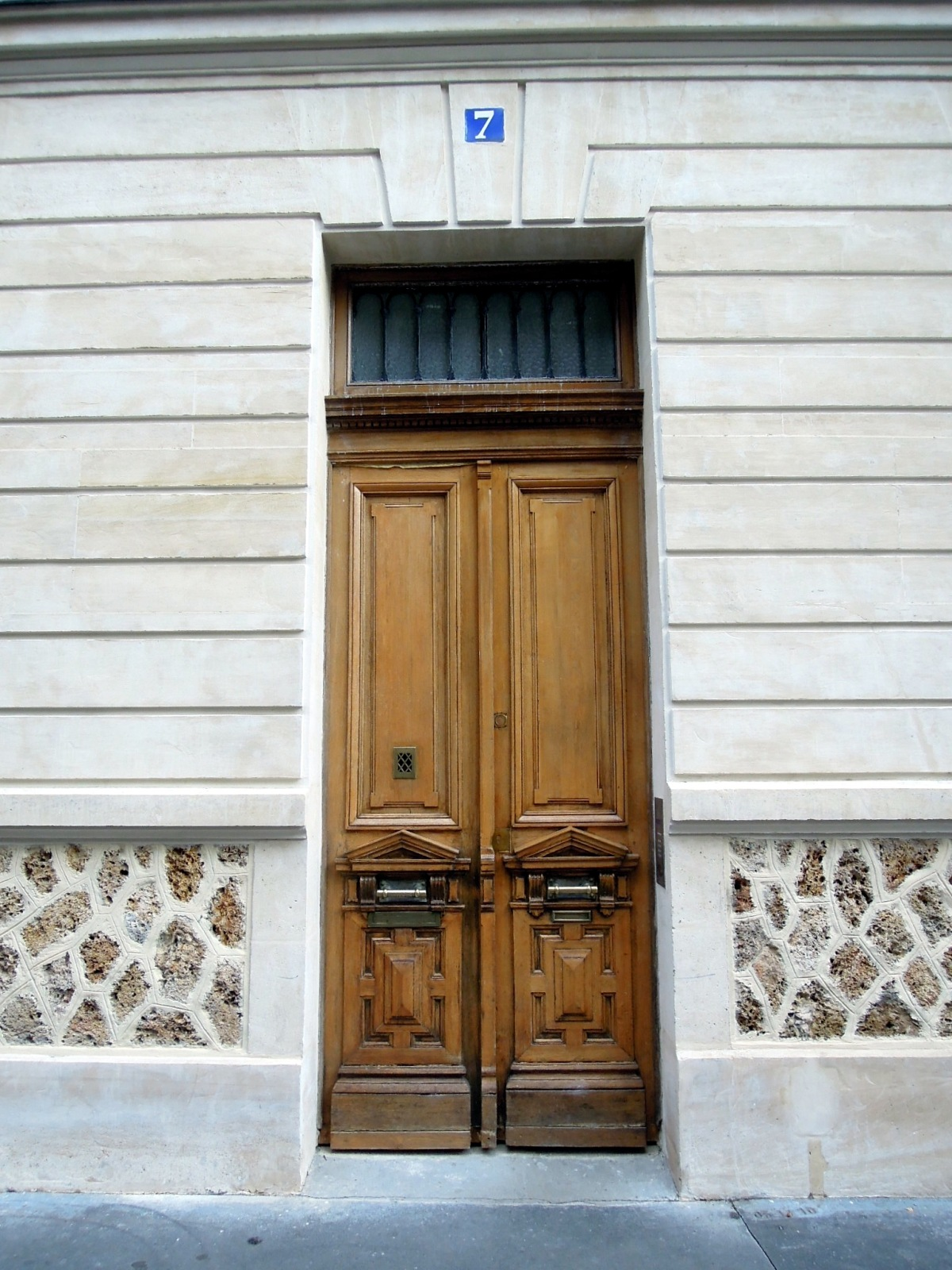 Lovely old wooden doors on Rue Vauquelin (I think)