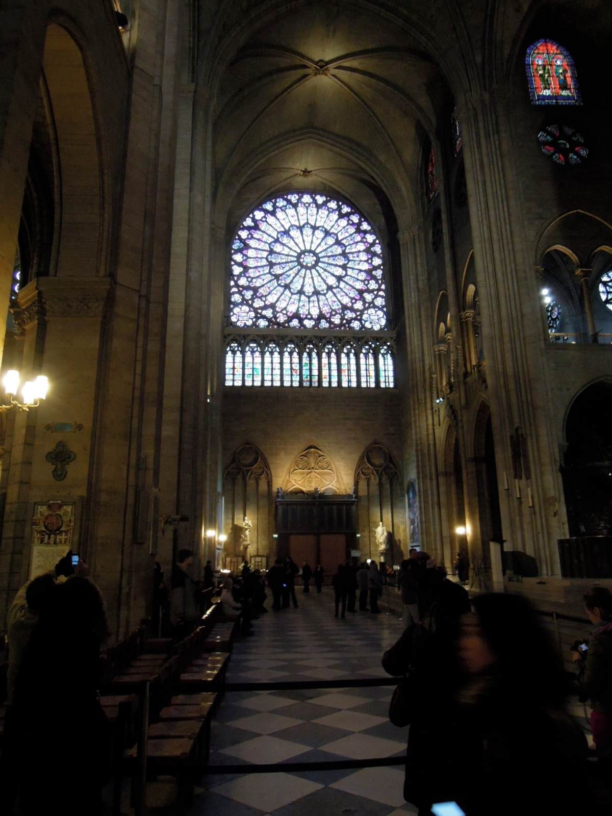 One of Notre Dame's famous rose windows.