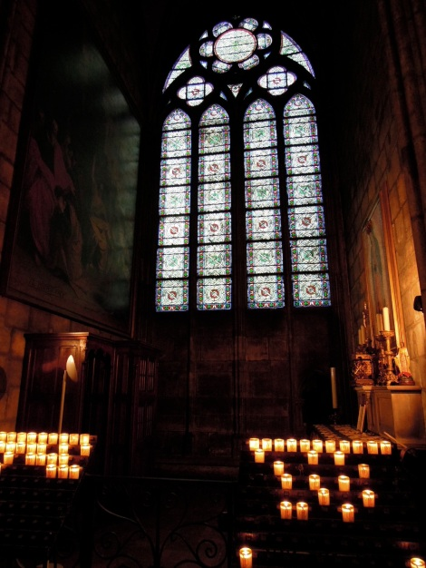 Another small chapel with many lit candles