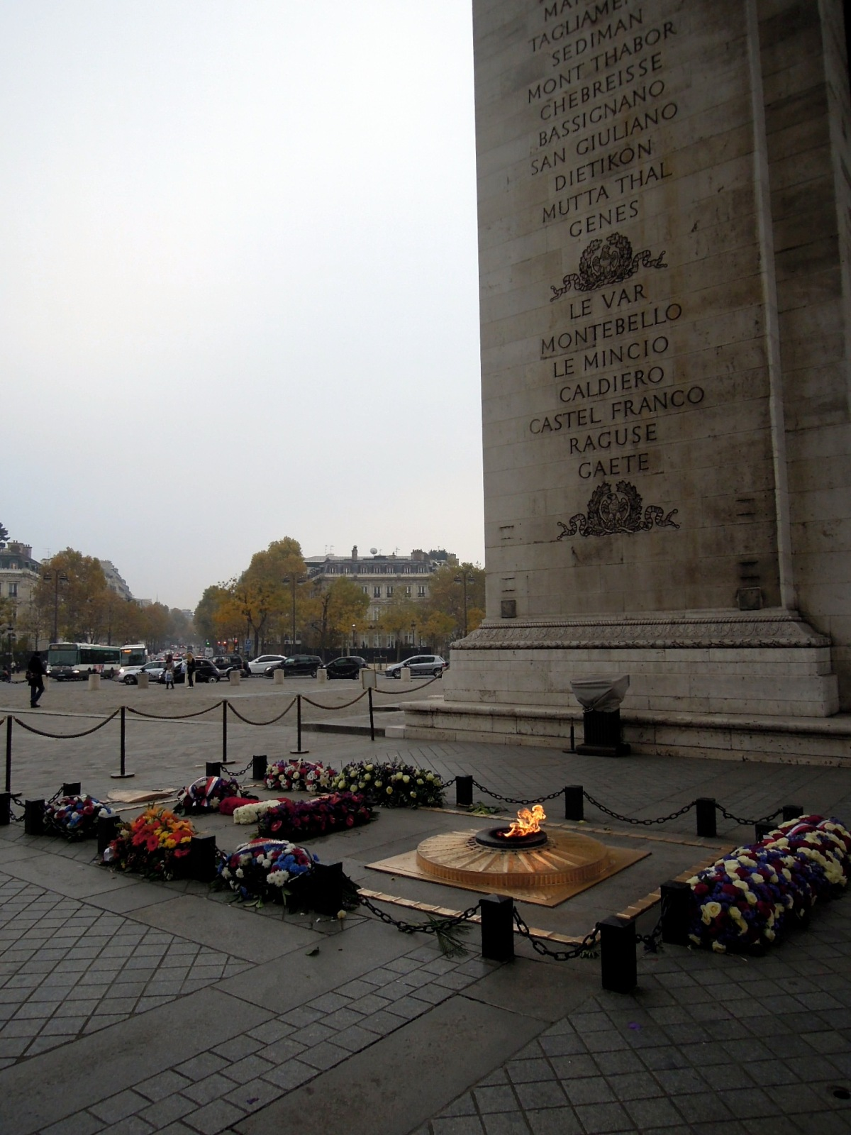 Eternal flame at the Tomb of the Unknown Soldier