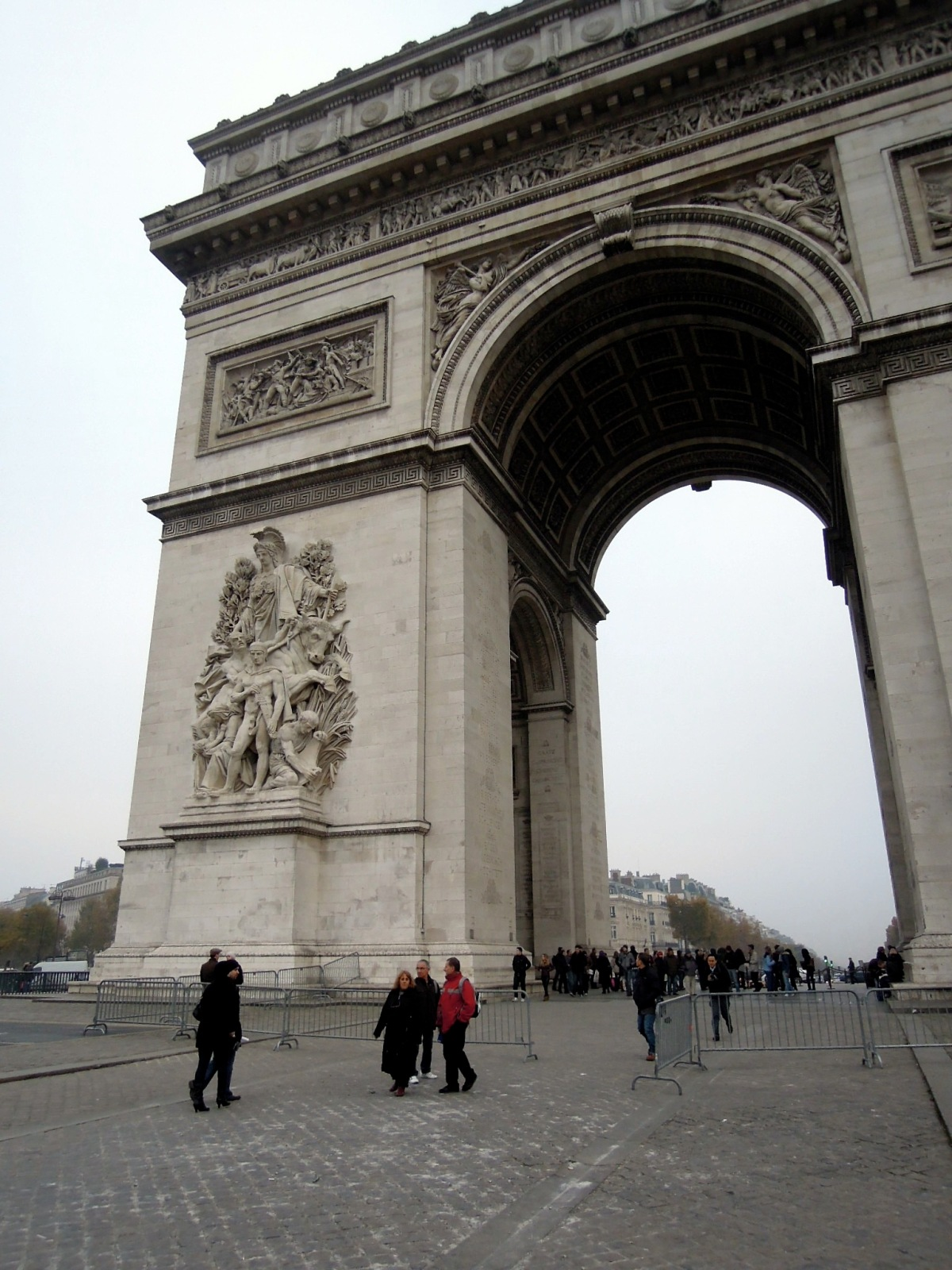 Arc de Triomphe from standing close to it