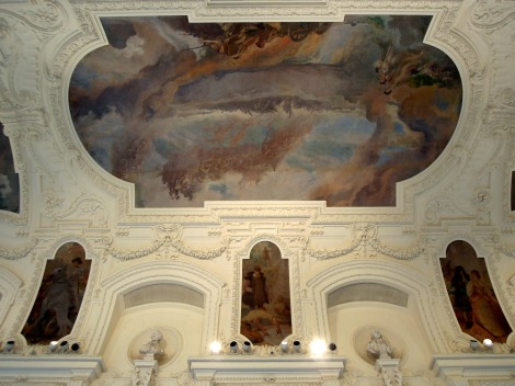 Murals on the ceiling