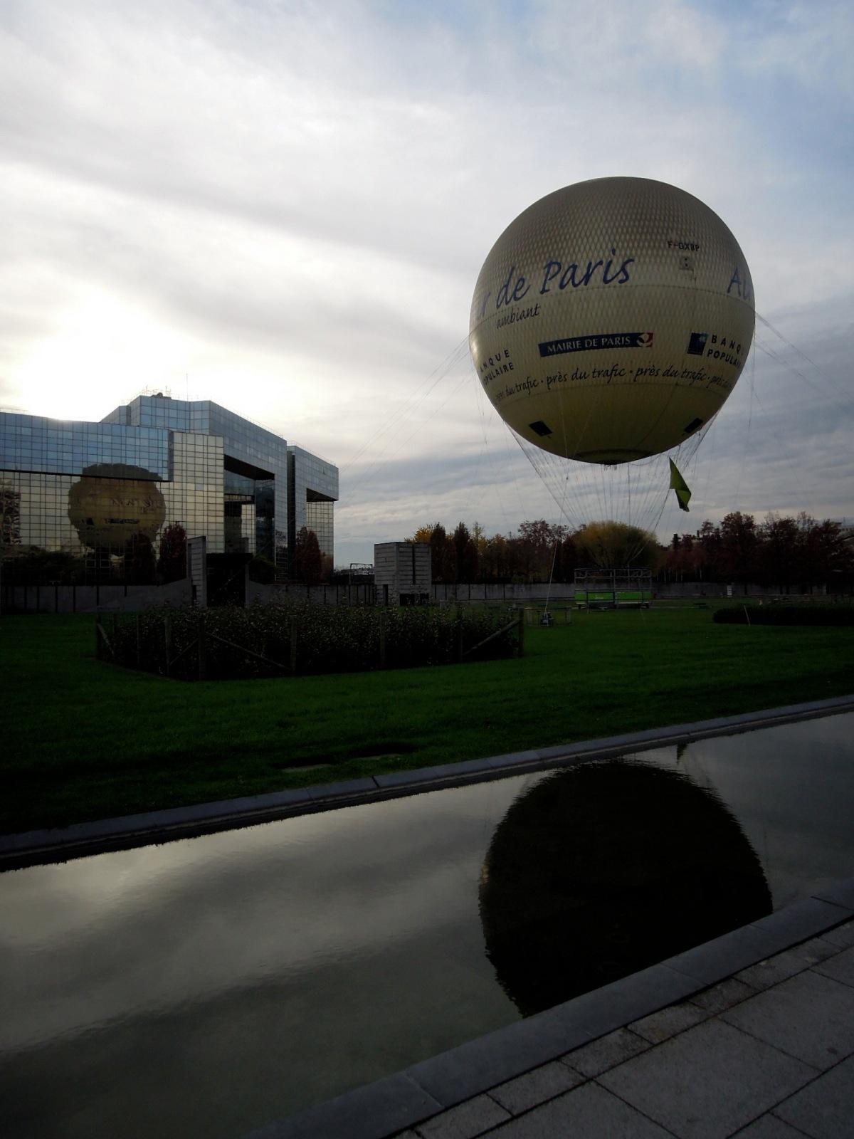 Big round hot-air balloon